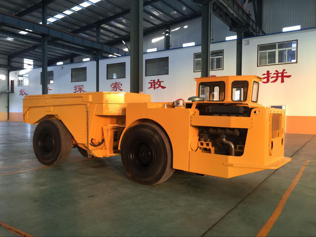 Yellow Heavy Duty Low Profile Dump Truck For Underground Mining